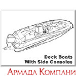 Тенты для катеров типа Deck Boats With Walk-Thru Windshields