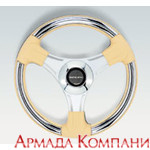 """Штурвал BUDELLI CH/P Chrome inserts Polished spokes &№216; 13.8"""" (350 mm)"""