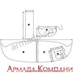 Нескользящее палубное покрытие для катера Four Winns H260