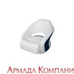 Кресло Cuddy Bright White (белое с синей вставкой)