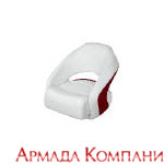 Кресло Cuddy Bright White (белое с красной вставкой)