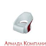 Кресло Cuddy Marble (серое с красной вставкой)