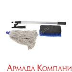 Комплект разборный багор, щетка, швабра с ручкой 90-180 см