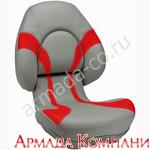 Кресло Attwood Centric X - серое с красными вставками