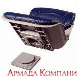 Сиденье всепогодное низкопрофильное со сменными подушками, синее