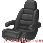 Кресло капитанское, с подлокотниками (черное)