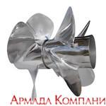 Комплект гребных винтов для Bravo 3, 4 лопастные, 18-й шаг (сталь)