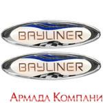 Стикер-логотип для Bayliner 3 1.2 x 1 Silver (пара)