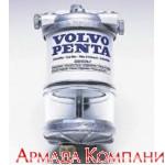 Топливный фильтр влагоотделитель для дизельных двигателей мощностью до 60 л.с. с прозрачным стаканом