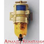 Топливный фильтр влагоотделитель для дизельных двигателей мощностью до 280 л.с. с прозрачным стаканом