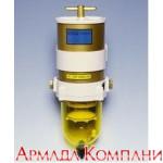 Фильтр сепаратор для дизельных двигателей мощностью до 750 л.с. с прозрачным стаканом в сборе