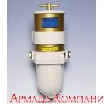 Фильтр сепаратор для дизельных двигателей мощностью до 750 л.с. со стальным корпусом в сборе