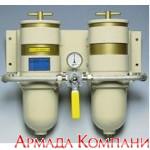 Сдвоенный фильтр сепаратор для мощных дизельных двигателей