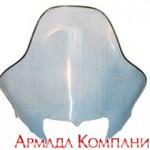 Стекло ветровое для снегохода Yamaha, (стандартная высота, толщина 3 мм)