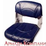Сиденье всепогодное низкопрофильное со сменными подушками, сине-серое