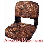 Сиденье всепогодное высокопрофильное со сменными подушками, камуфлированное - листва