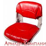 Сиденье всепогодное низкопрофильное, со съемными подушками, красное