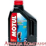 Моторное масло MOTUL Outboard 4T 10W-40 Technosynt, 4-х тактное для подвесных двигателей, (2 литра)