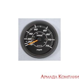 Спидометр YAMAHA аналоговый 0-75 кмч, черный